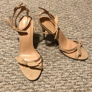 Who What Wear Nude Bow Heels